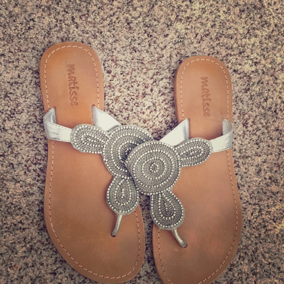 31da0f063 Matisse rhinestone sandals. M 5b85c0970e3b86c54e4d332c